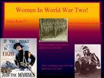 Women In World War Two