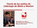 Teor a de los estilos de Liderazgo de Blake y Mouton