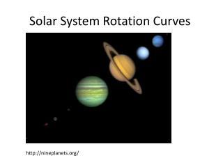 Solar System Rotation Curves