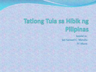 Tatlong Tula sa Hibik ng Pilipinas