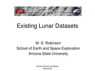 Existing Lunar Datasets