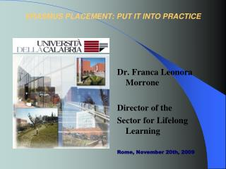 ERASMUS PLACEMENT: PUT IT INTO PRACTICE