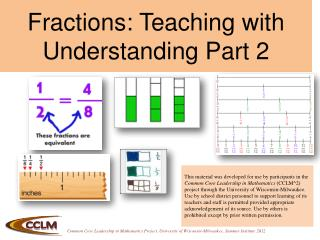 Fractions: Teaching with Understanding Part 2