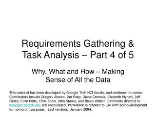 Requirements Gathering  Task Analysis   Part 4 of 5