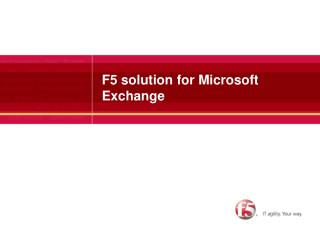F5 solution for Microsoft Exchange
