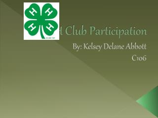 4-H Club Participation