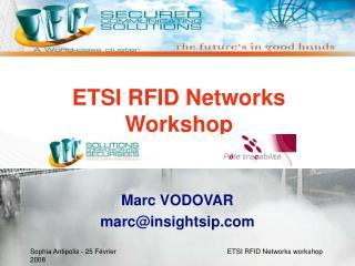 ETSI RFID Networks Workshop