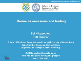 Marine air emissions and trading