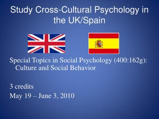 Study Cross-Cultural Psychology in the UK