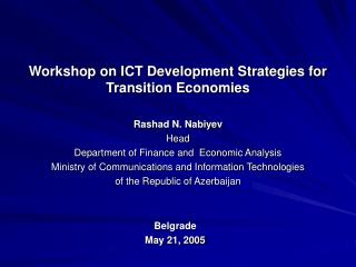 ICT Development in figures