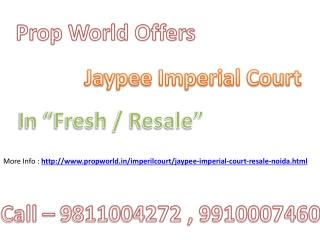 Jaypee Imperial Court Resale,9811004272,Jaypee Imperial Cour