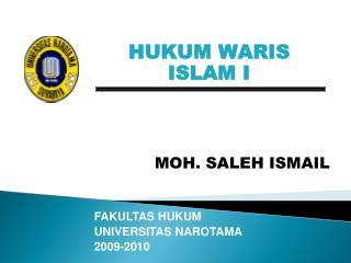 HUKUM WARIS ISLAM I