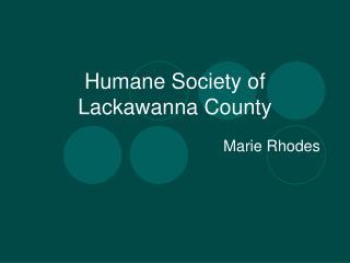 Humane Society of Lackawanna County
