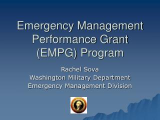 Emergency Management Performance Grant EMPG Program