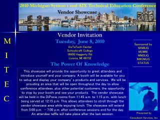 2010 Michigan System i and AIX Technical Education Conference