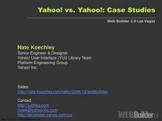 Yahoo vs. Yahoo: Case Studies
