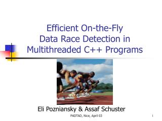 Efficient On-the-Fly Data Race Detection in Multithreaded C Programs