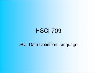 HSCI 709