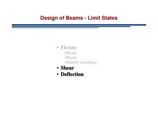 Design of Beams - Limit States
