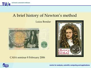 A brief history of Newton s method