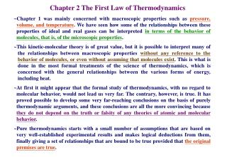 Chapter 2 The First Law of Thermodynamics