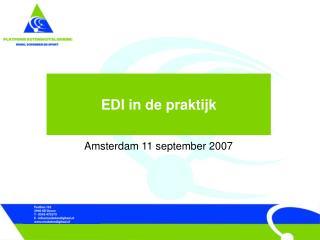 EDI in de praktijk