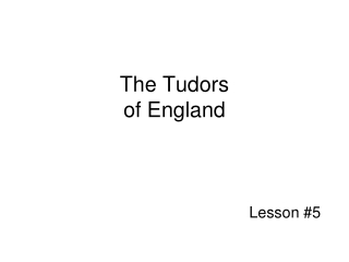English Monarchs The Tudor Dynasty