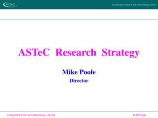 ASTeC  Research  Strategy
