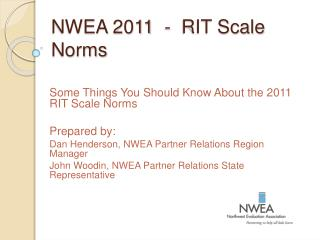 NWEA 2011  -  RIT Scale Norms