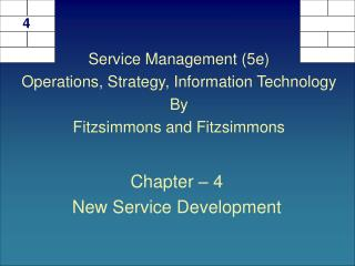 Chapter   4 New Service Development