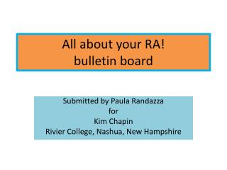 All about your RA bulletin board