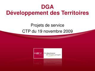 DGA D veloppement des Territoires