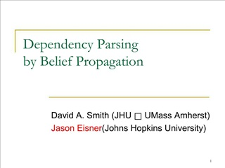 Dependency Parsing by Belief Propagation