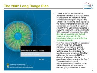 The 2002 Long Range Plan
