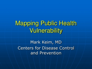 Public Health Applications of GIS