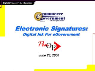 Electronic Signatures: Digital Ink For eGovernment