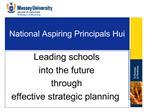 National Aspiring Principals Hui