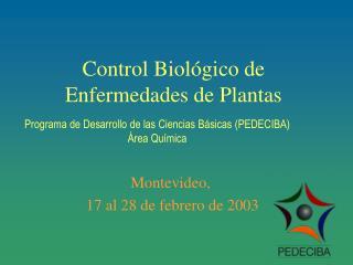 Control Biol gico de Enfermedades de Plantas
