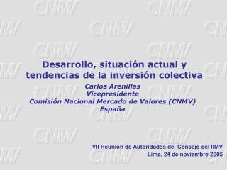 Carlos Arenillas Vicepresidente  Comisi n Nacional Mercado de Valores CNMV  Espa a