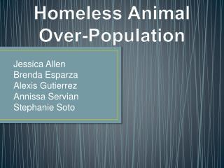 Homeless Animal Over-Population