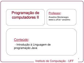 Programa  o de computadores II