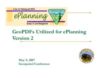 GeoPDFs Utilized for ePlanning Version 2