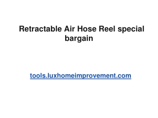 Retractable Air Hose Reel special bargain