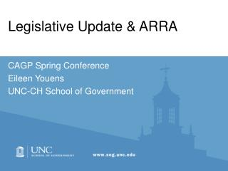 Legislative Update  ARRA