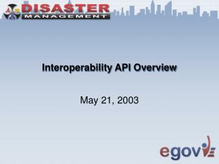 Interoperability API Overview