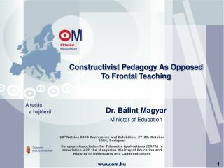 Constructivist Pedagogy As Opposed To Frontal Teaching