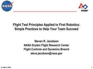 Flight Test Principles Applied to First Robotics: Simple Practices to Help Your Team Succeed
