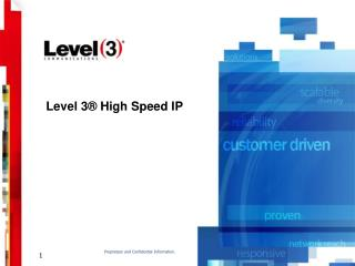 Level 3  High Speed IP