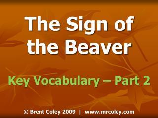 Key Vocabulary   Part 2
