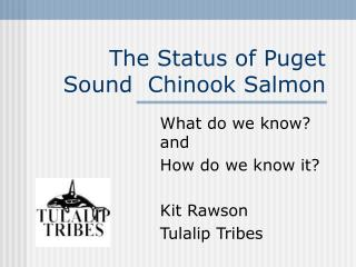 The Status of Puget Sound  Chinook Salmon